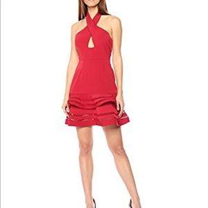 🆕 KEEPSAKE, Halter Key Hole Mini Tier Hem Dress